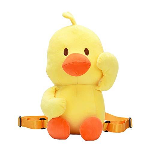 holitie Umhängetasche Mode Unisex Yerllow Duck-Like Plüsch Crossbody Taschen Weird Bag Backpack - Familie Duck Kostüm