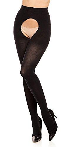 GLAMORY Damen Ouvert Strumpfhose, 60 DEN, Schwarz, Medium (Herstellergröße: M-(40-42))