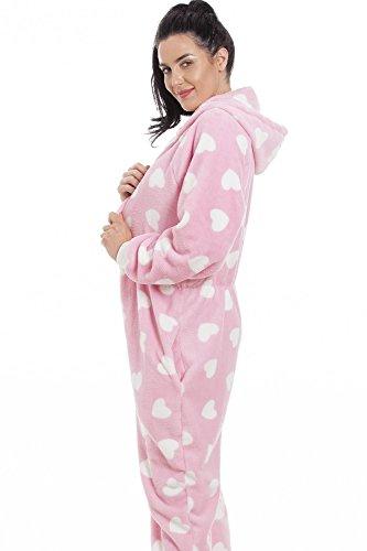 Camille Erwachsener und Kind Herz alles in einem Onesie Pyjama 46/48 PINK - 3