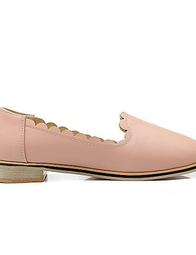 Shangyi Gyht Chaussures Femme-ballerines-casual-confortable / Ballerine / Bout Rond-flat-similicuir-rose / Blanc / Gris Gris