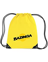 Shirtstown Premium gymsac Bazinga, negro
