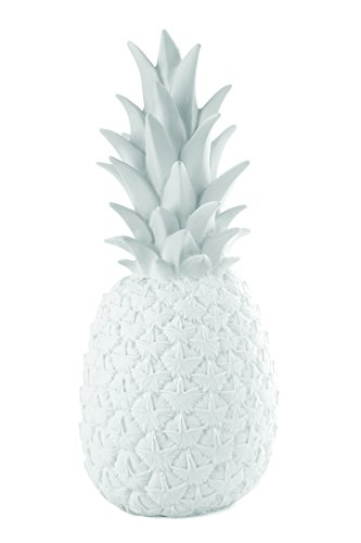 Goodnight Lamp Lampe décorative en Forme d'Ananas, Verre, Blanc, 15 x 15 x 36 cm