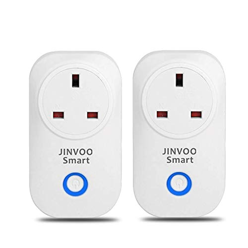 JinvooSmart Wi-Fi Smart Socket Compatible with Amazon Alexa and Google  Assistant, No Hub Required Control Your Devices from Anywhere UK Plug (2  Packs)