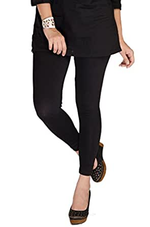 De Moza Girls Cotton Leggings -Black -X-Large
