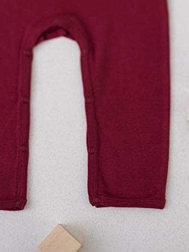 Organic by Feldman Unisex Strampler Overall aus Bio Baumwolle, GOTS Zertifiziert, Schutzengel Beeren Rot (86/92) - 4