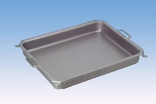 bessergrillen.de Stahlpfanne, Grillpfanne, Stahlblech-Pfanne, ca. 635 x 515 mm, 60 mm tief, für 3-flammigen Gasgrill
