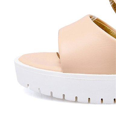 LvYuan Da donna-Sandali-Serata e festa Formale Casual-Comoda Innovativo-Zeppa-Materiali personalizzati Finta pelle-Verde Rosa Bianco Beige Green
