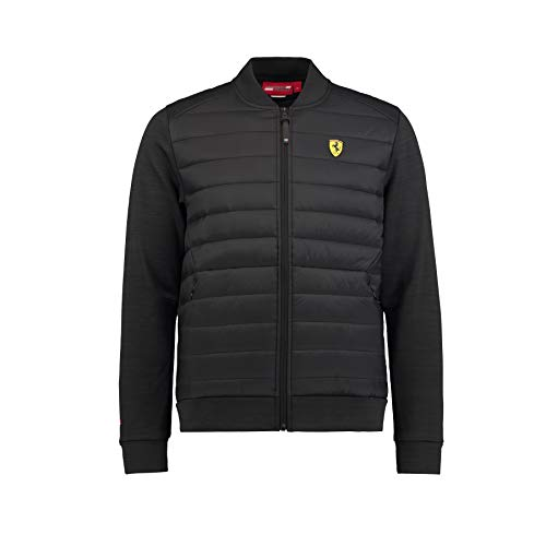 Ferrari 2018 Scuderia Herren Bomberjacke Mantel Größen XS-XXL Offizieller Merchandise-Artikel, Schwarz, (XL) 44 inch Chest/EU 56-58