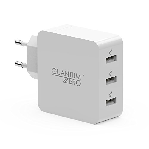 QuantumZERO WalMATE USB Wall Charger Adapter for all phones and tablets (3 Ports)