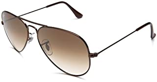 Ray-Ban - Lunette de soleil RB3025 Aviator metal Aviator - Homme, Brown (B001T7OFW2) | Amazon price tracker / tracking, Amazon price history charts, Amazon price watches, Amazon price drop alerts