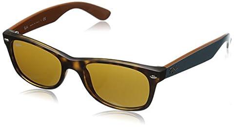 Ray-Ban RB2132 New Wayfarer Sunglasses 52mm, Tortoise Green Brown Bicolor (6179)