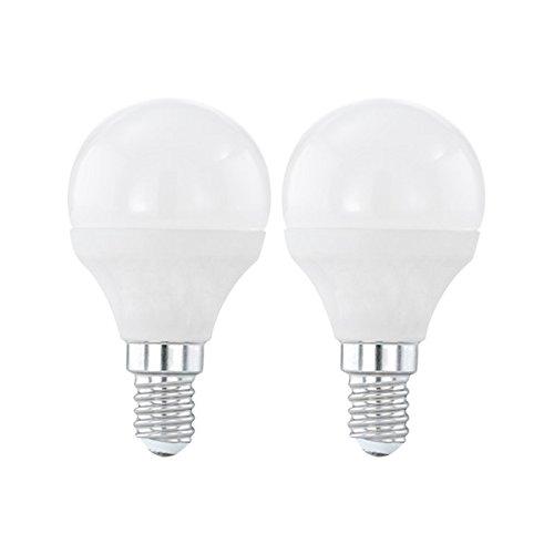 Preisvergleich Produktbild Eglo 10775 Set mit 2 LED Kugellampen E14 3000K 4W 320 Lumen Weiß Warmes Weiß Warmes Weiß