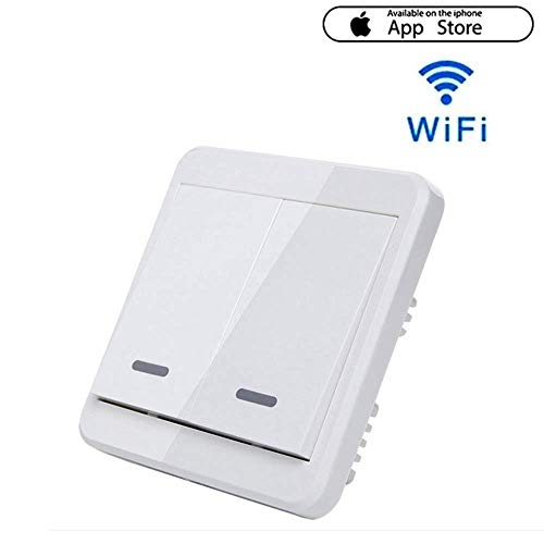 VISTANIA WiFi Smart Interruptor De Luz 220~240V Funciona con Apple Homekit Apoyo Siri Remoto