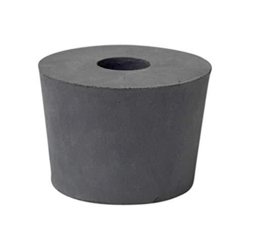 Bouchon en caoutchouc 54 x 46 x 40 mm avec trou