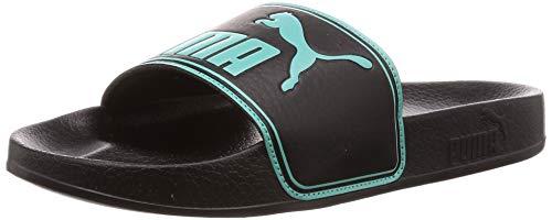 Puma leadcat', scarpe da spiaggia e piscina unisex-adulto, nero black-blue turquoise, 38 eu