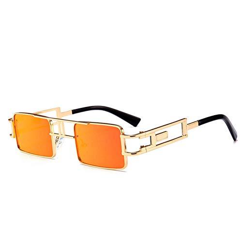 CCGKWW Farben Schillernde Quadratische Spiegel Reisende Sonnenbrille Frauen Männer Steampunk Gläser Starke Schatten Spiegel Eyewear Geschenke - Schillernde Schatten
