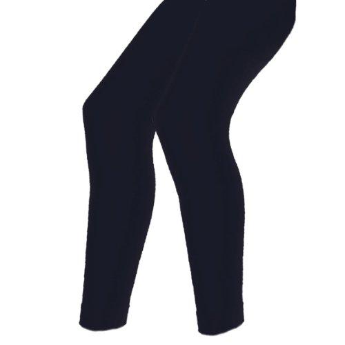 Damen Thermo Leggings flauschig warm mit Innenflanell in 9 Farben - Lavazio Dunkelblau