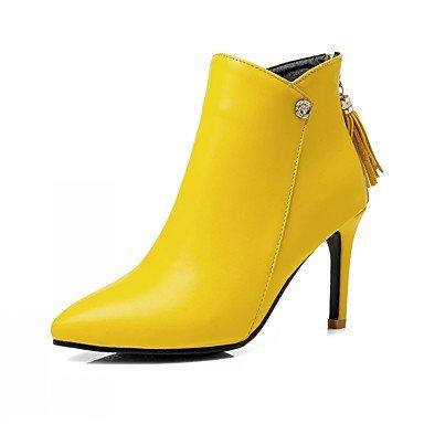 Rtry Chaussures Pu Cuirette Automne Hiver Confort Nouveauté Mode Bottes Talon Aiguille Pantoufles Punta / Bottes Inflorescence Staminifera (s) Pour Us6 / Eu36 / Uk4 / Cn36