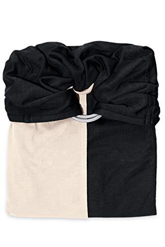 je porte mon bébé Petite Echarpe sans Nœud Noire/Ecru