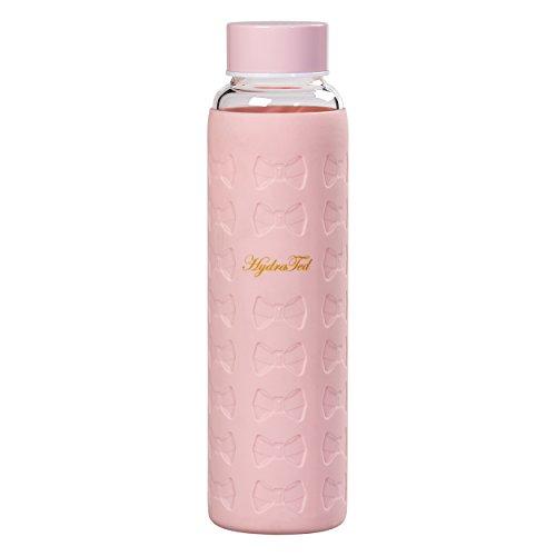 Ted Baker Damen ted971Glas Wasser Flasche Mit Silikon Ärmel, Rosa, Medium (Wasser Glas Flasche)