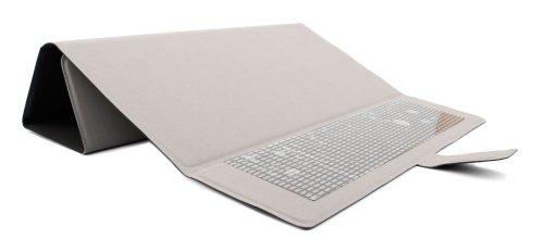 DURAGADGET Elegante, GRAUE Schutzhülle mit praktischer Standfunktion, geeignet für TrekStor PrimeTab P10 Wifi, SurfTab breeze 10.1 quad plus, duo W1, SurfTab wintron 10.1 3G / Volks-Tablet Tablet PCs