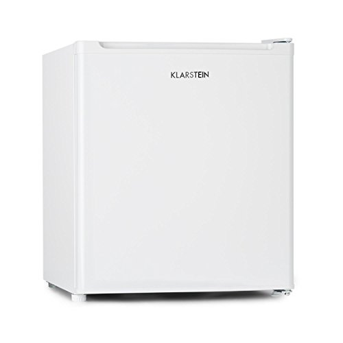 Klarstein Garfield Eco - Capacité nette de 34 litres, Congélateur 4 étoiles, 117 kWh/an, 2 niveaux, 41 dB, Tablette amovible, Autonome, Gain de place, Environ 44 x 52 x 47 cm (LxHxP), blanc