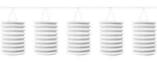 Amscan Nouveau Guirlande avec boules Blanc, 365 cm