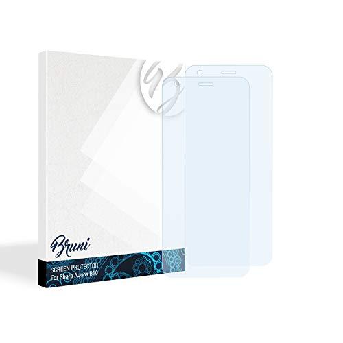 Bruni Schutzfolie für Sharp Aquos B10 Folie, glasklare Bildschirmschutzfolie (2X)
