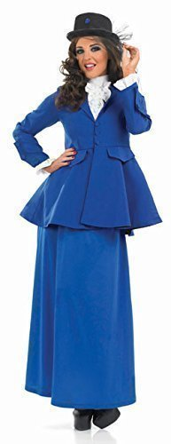 Ladies Long Full Length Victorian Lady Mary Poppins Book Day Fancy Dress Costume Outfit UK 8-30 Plus Size (UK 12-14) by NA
