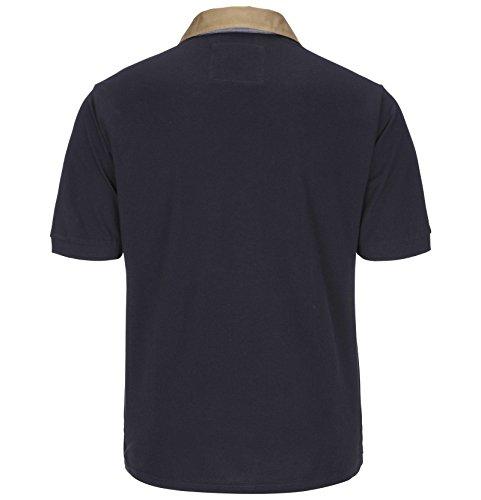 Jan Vanderstorm Herren Poloshirt Joakim in Übergröße | Große Größen | Plus Size | Big Size | XL XXL XXXL 4XL 5XL 6XL 7XL 8XL 9XL 10XL Dunkelblau