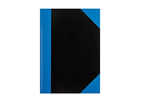 Idena 10351 - Kladde A7, FSC-Mix, liniert, 70 g/m², 96 Blatt, blau/schwarz