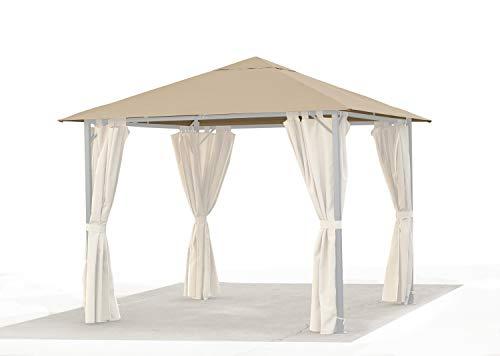 GRASEKAMP Qualität seit 1972 Ersatzdach 3x3m Gartenpavillon Nizza Sand Pavillon Partyzelt Bezug universal