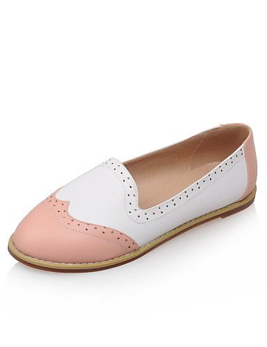 ZQ gyht Scarpe Donna-Mocassini-Ufficio e lavoro / Casual-Comoda / Ballerina-Piatto-Finta pelle-Nero / Blu / Rosa , pink-us9 / eu40 / uk7 / cn41 , pink-us9 / eu40 / uk7 / cn41 black-us7.5 / eu38 / uk5.5 / cn38