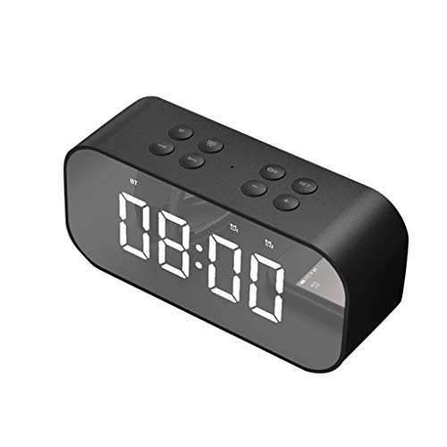 Fangfeen Bluetooth 5.0 Musik-Player-Lautsprecher Uhr Spiegel-Ende-LED-Anzeige drahtlose bewegliche...