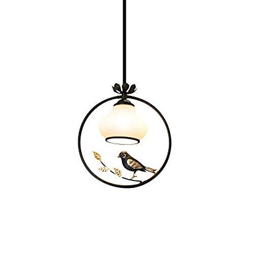 GOLDT1 Schmiedeeisen Vogel Kronleuchter Kreative Restaurant Bar Cafe Flur Gang LED Beleuchtung für Schlafzimmer, Flur, Bar, Küche, Bad