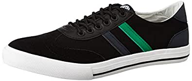 Amazon Brand - Symbol Men's Black Sneakers-6 UK (AZ-SH-05)