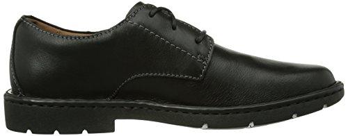 Clarks Stratton Way, Scarpa classica modello derby Uomo Nero (Black Leather)