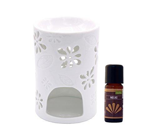 Duftlampe Teelicht Wärmer Stövchen Nyl mit Nelken Öl 10 ml Wärmer Duftlampe