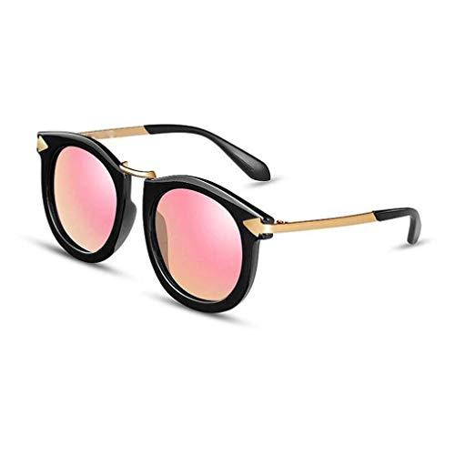 JOLLY Damenmode Mode Runde Pfeil Stil Polarisierte Sonnenbrille (Farbe : Rosa)