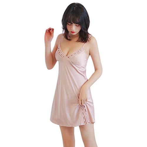 ODRD Damen Nachtwäsche Sexy Sleepwear Womens Sexy Satin Sling Lace Nachtwäsche Dessous Nachtwäsche Unterwäsche Set Dessous Frauen Unterwäsche Bademantel Orgenmantel ()