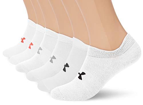 Under Armour Damen UA Essential NS Socken, Weiß, MD (Under Armour-socken-damen)