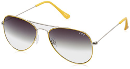 IDEE Aviator Sunglasses (IDS1802C25SG|57|Silver and Yellow ) image