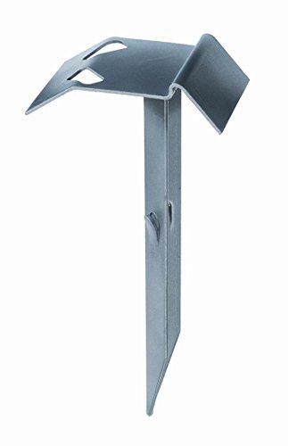 GAH-Alberts 210854 Auflaufstütze, zum Einschlagen, mit angeschweißtem Erddorn, feuerverzinkt, 125 x 47 mm