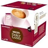 Nescafé - 16 x Dosettes / Capsules de Café Dolce Gusto® - Espresso