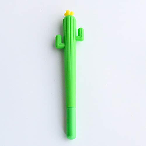 2 Stück Neue niedliche kreative Kawaii Kaktus-Gel Stifte Sukkulenten Pflanzen Schreibwaren Kinder Geschenk Schule Schreibwaren Stift Einheitsgröße Black Ink