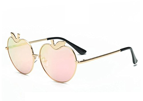 XYLUCKY Mode Apfel Herzförmige Sonnenbrille Street Shot Paar Gläser , f