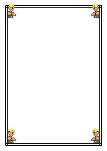 25A5Bob der Baumeister (New Bob) Schreibpapier, Stationery–Einfaches Papier
