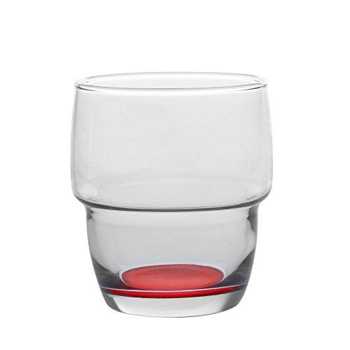 Table Passion - Gobelet 28,5cl galata fond couleur empilable rouge (lot de 6)