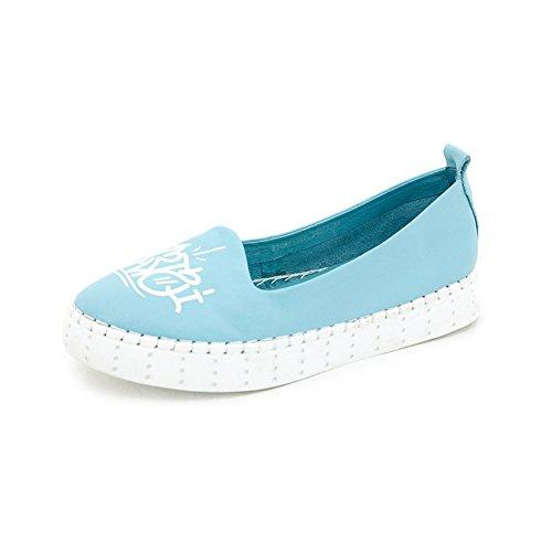 Autunno scarpe fondo piatto/ Pelle pura testa luce scarpe/Scarpe tempo libero-C Lunghezza piede=24.8CM(9.8Inch)