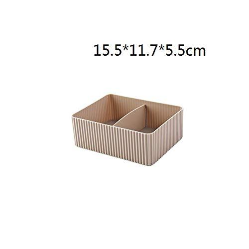 1Pc Startseite Imitation Rattan-Serie Cosmetic Storage Box Dresser Finishing Box Desktop Kunststoff Multi Skin Care Products Regal, E